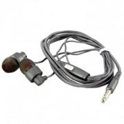 Наушники Walker H700, серые, с микрофоном и кнопкой ответа (матерчатый провод)