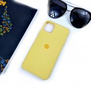 "Чехол-накладка для iPhone 11 Pro Max серия ""Оригинал"" №04, желтый"