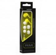 Внутриканальные наушники Smartbuy PRIME, динамики 10мм, плоск. кабель, желтые, 3пары вставок SBE-160
