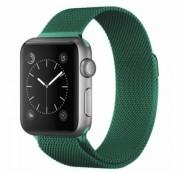 """Ремешок для Apple Watch 42-44mm, """"Миланская петля"""" металлический, темно-зеленый"""