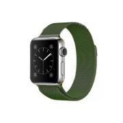 """Ремешок для Apple Watch 42-44mm, """"Миланская петля"""" металлический, зеленый"""