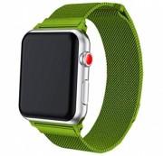 """Ремешок для Apple Watch 42-44mm, """"Миланская петля"""" металлический, светло-зеленый"""