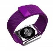 """Ремешок для Apple Watch 42-44mm, """"Миланская петля"""" металлический, темно-фиолетовый"""