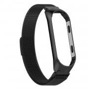 Ремешок для часов Xiaomi MI Band 3, Миланская петля, металлический, черный