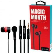 MP3 наушники Celebrat D2 Magic Month, красные, с микрофоном и кнопкой ответа
