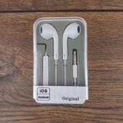 Наушники EarPods  iPhone 5 оригинальные (3.5mm), пластиковый бокс, белый
