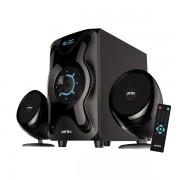 "Perfeo колонки 2.1 ""SHUTTLE"", мощн 16W+6W*2, Bluetooth, AUX, FM, USB/SD, ПДУ (PF-3670), чёрный"