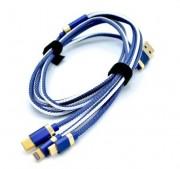 INNOVATION O3IMT-OCTOPUS LUX универсальный кабель iPhone 5 + Micro+TypeC 3в1, длина 1,2 м, 2A, синий