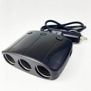 Разветвитель в прикуриватель ZX-548 со шнуром, на 3 устройства + 2 USB