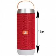 Блютуз-колонка JB J9, Micro SD+Micro USB+AUX+FM+NFC+цветной фонарь, красная
