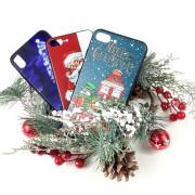 """Чехол-накладка для iPhone X/XS, пластиковый, глянцевый, """"Новогодняя и зимняя серия"""""""