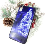 """Чехол-накладка для iPhone XR (6.1"""") пластиковый, глянцевый, """"Новогодняя и зимняя серия"""""""