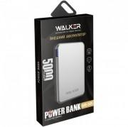 Внешний аккумулятор Walker WB-505, 5000 mAh, Li-Pol, USB, microUSB, Type-C, металл, серый
