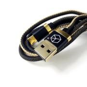 Breaking кабель Micro USB Denim (джинсовый), 2.4A, длина 1м (21220), черный