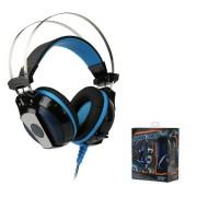 Игровая гарнитура RUSH PYTHON, динамики 50мм, велюровые амбушюры (SBHG-4000), черно-синий