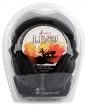 Полноразмерные наушники SmartBuy® LIVE!, 4м кабель, 50мм динамики, черные.(SBE-7000)