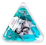 Полноразмерные наушники SmartBuy® TRIO, бирюзовые (SBE-9130)