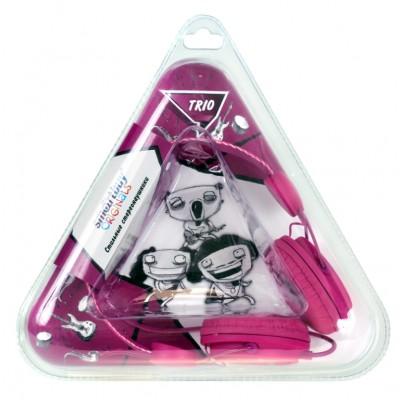 Полноразмерные наушники SmartBuy® TRIO, пурпурные (SBE-9140)