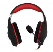 Игровая гарнитура RUSH VIPER, динамики 50мм, велюр. амб, переходн. для ПК (SBHG-2200), черно-красный