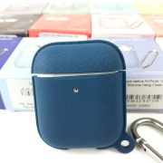 Чехол для кейса AirPods 1&2 Leather Silicone Hang Case, Atrovirens