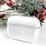 Чехол для кейса AirPods пластиковый PC Case, прозрачный