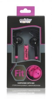 Универсальная мобильная гарнитура SmartBuy FIT, черн/розов (SBH-410)
