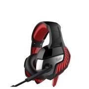 Игровая гарнитура RUSH CRUISER,LED-подсветк, динамики 50мм, гибкий микрофон,  черн/красн