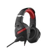 Игровая гарнитура RUSH DESTROYER, динамики 50мм, гибкий микрофон,  черн/красн