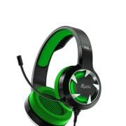Игровая гарнитура RUSH MACE, динамики 40мм, гибкий микрофон,  зеленый