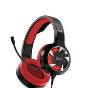 Игровая гарнитура RUSH MACE, динамики 40мм, гибкий микрофон,  красный