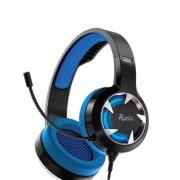 Игровая гарнитура RUSH MACE, динамики 40мм, гибкий микрофон,  синий