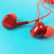 MP3 наушники Bass ZN888, вакуумные, красный
