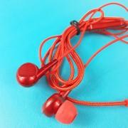 MP3 наушники Bass ZN999, вакуумные, красный