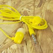 MP3 наушники Earphone X04 вакуумные, желтый