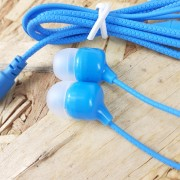 MP3 наушники Earphone X01 вакуумные, синий