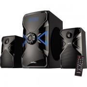 "Perfeo колонки 2.1 ""X-TECH"", мощн 15Вт+11,5х2Вт, Bluetooth, AUX, FM, USB/SD, ПДУ, чёрн (PF-167С-BL)"